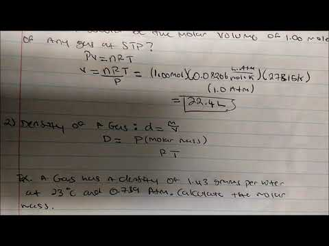 Applications of The Ideal Gas Laws (Molar Volume, STP & More)
