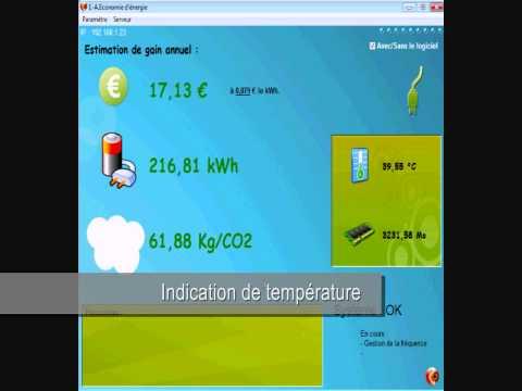 Logiciel d'Economie d'Energie : Démonstration