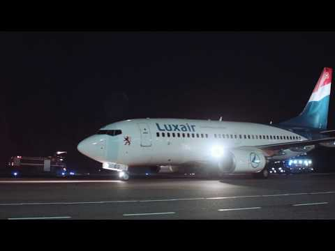 Welcoming Luxair, flag carrier airline of Luxembourg.