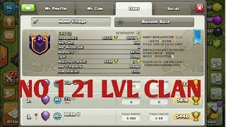 (HINDI) NEW WORLD RECORD!! - Clash Of Clans - WORLDS FIRST LEVEL 21 CLAN!|TECHNICAL AJK
