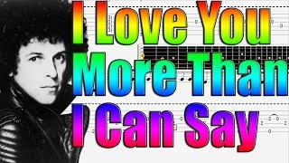 """How to Play """"Love You More Than I Can Say"""" by Leo Sayer  - Guitar Lesson"""