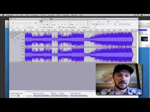 Record Singing to a Karaoke Backing Track using Audacity
