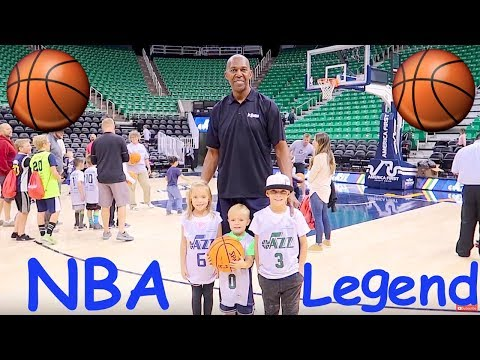 Kids meet a REAL NBA Basketball Player Legend!