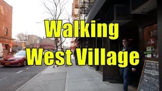 ⁴ᴷ Walking Tour of West Village, Manhattan, NYC