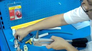 """Video IWISS F1960 Pex Expander Tool Kits with 1/2"""",3/4"""",1"""" Expansion Head suit Propex Uponor pipe fittings download MP3, 3GP, MP4, WEBM, AVI, FLV Maret 2018"""