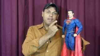 "Neca 1/4 scale Man of Steel / 18"" Superman Action figure review."