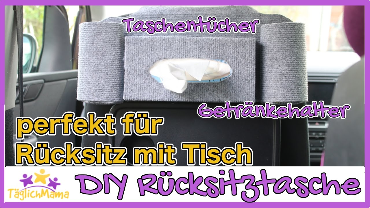 diy r cksitztasche f r s auto perfekt f r r cksitze mit. Black Bedroom Furniture Sets. Home Design Ideas
