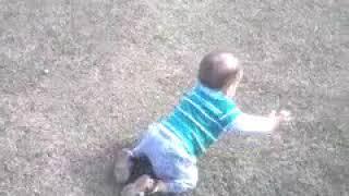 Meu filho Andrey Victor engatinhando