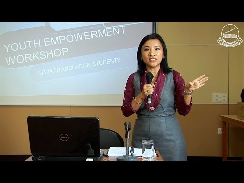 Youth Empowerment Workshop by Ms. Dhadon Sharling (Former Chitue)