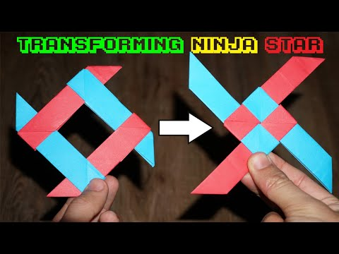 The Transforming Ninja Star! (4-Pointed) - Amazing And Easy - YouTube