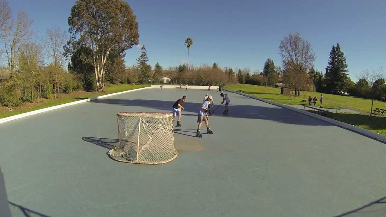 GoPro Outdoor Roller Hockey YouTube - Backyard roller hockey rink