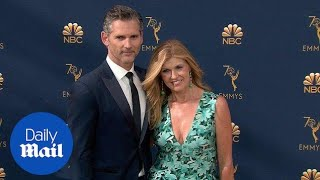 Connie Britton at the 2018 Emmys with Eric Bana on her arm thumbnail