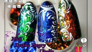 Дизайн ногтей Гель лаком/Стружка на ногтях