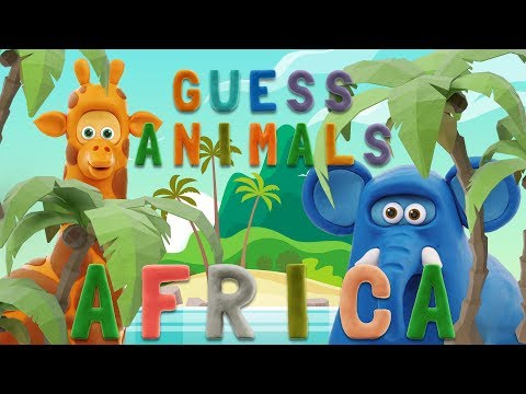 GUESS ANIMALS – AFRICA | Learn ABC and animals easily | talking abc
