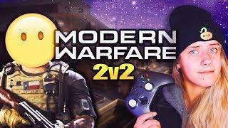 my 2v2 teammate went afk, so i carried MYSELF (15-2)   Modern Warfare Gunfight Gameplay