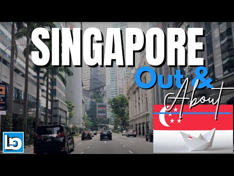  4K  THE REPUBLIC OF SINGAPORE    DRIVING DOWNTOWN