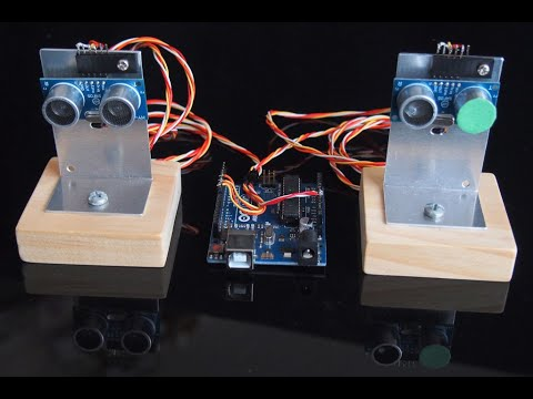 Эхолокатор на двух датчиках и Arduino