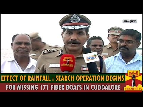 Effect Of Rainfall : Search Operation Begins For Missing 171 Fiber Boats