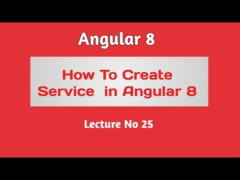 Angular 8 Tutorial - Part 25 -  How to create Service in Angular 8 thumbnail