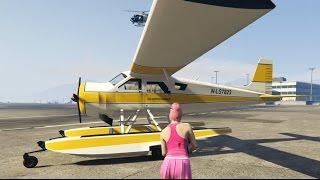 【PS4でGTA5実況!】 水陸両用の水上機・DODOに初乗り&着水!(一人称・主観モード)
