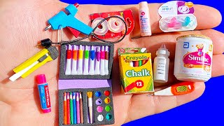 30 DIY MINIATURE SCHOOL SUPPLIES, BABY CRAFTS REALISTIC HACKS AND CRAFTS FOR BARBIE DOLLHOUSE !!!