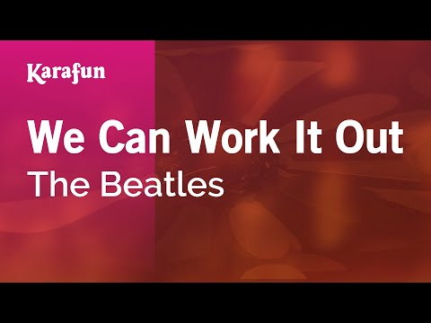 Karaoke We Can Work It Out - The Beatles *