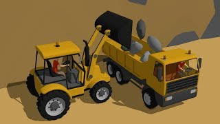 #Excavator and Dump Truck & Concrete Mixer Truck - Construction of Benches by the sea - Vehicles