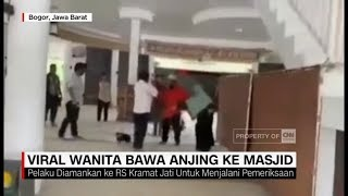 Viral! Wanita Bawa Anjing Ke Masjid