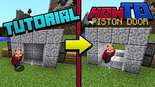 PISTON DOOR | Tutorial | Guide | How to Minecraft 1.11