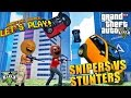 Annoying Orange & Midget Apple - GTA V: Snipers VS Stunters!
