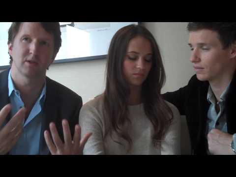 Alicia Vikander, Eddie Redmayne and Tom Hooper  'The Danish Girl'