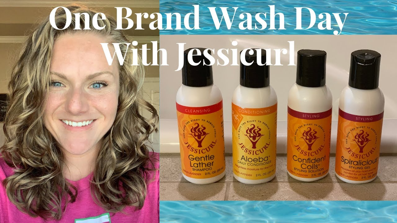 One Brand Washday with Jessicurl 2A 2B 2C Hair - YouTube