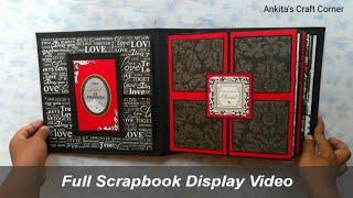 Full Scrapbook Display Video | Scrapbook Ideas | anniversary scrapbook