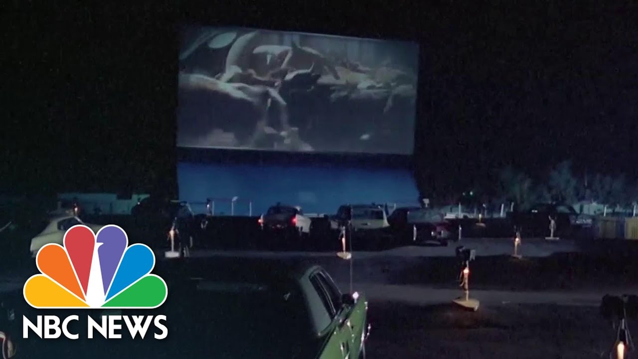 Drive In Movie Theaters Make Comeback During Covid 19 Crisis Nbc News Now Youtube