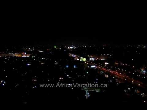 The Traffic in Cairo at Night