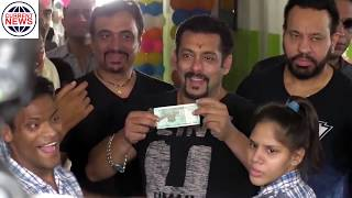 Salman Khan Meet Children Donate 15 Crore Rupees For This School