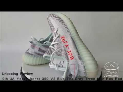 4b95545572194b UA Yeezy Boost 350 V2 Blue Tint 9th Version Unboxing Review - YouTube