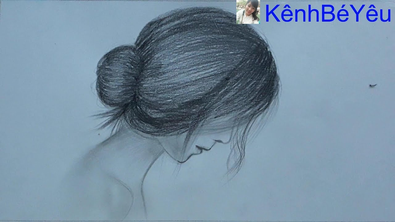 Vẽ cô gái buồn – Vẽ cô gái bằng bút chì;Draw sad girl – Draw girl with pencil.