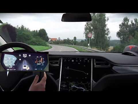 Tesla Autopilot nach Esslingen - Effizienz- & Praxistest (Model X, AP1 mit V. 8.1 17.26.92)