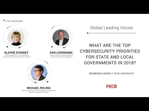 What are the top Cybersecurity priorities for state and local governments in 2018?