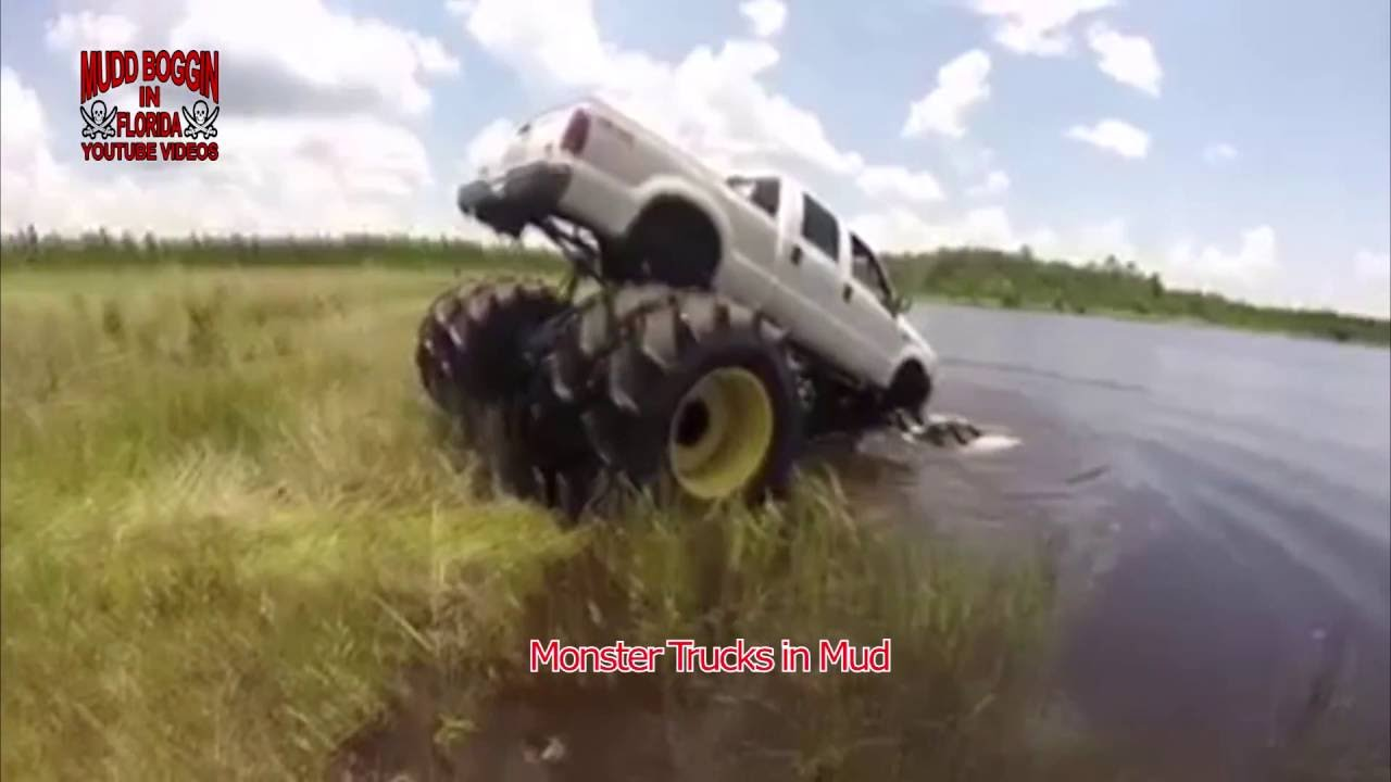 8 Wheel Diesel Ford Monster Truck In Water And On Land Can T Stop It Youtube