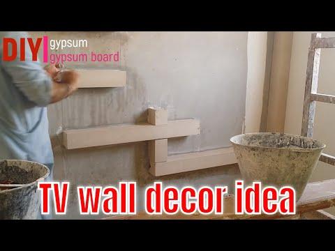 How To Make TV Decor In Gypsum Tv Unit Design For Small Living Room || DIY GYPSUM & GYPSUM BOARD
