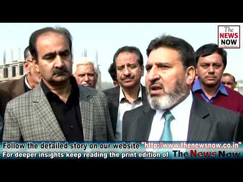 Altaf Bukhari conducts city tour to see progress of various development works