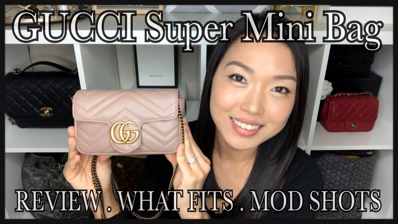 a0c36d1935f112 GUCCI SUPER MINI MARMONT REVIEW   What Fits + Comparison + Mod Shots ...