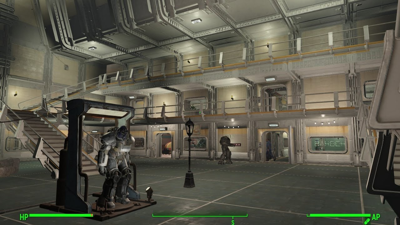 Fallout 4 vault 88 settlement build huge atrium youtube for Fallout 4 bedroom ideas