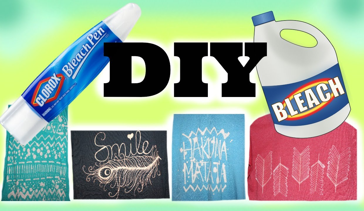 DIY Bleach Pen & T-Shirt Designs! - Maddie Ryles