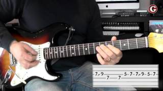 Example 3 - Easy guitar licks - A minor pentatonic lick -  - Guitar Couch Lessons