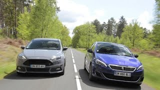 Peugeot 308 GT HDi vs Ford Focus ST TDCi : duel de GTI diesel