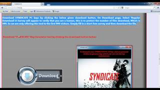 Syndicate PC Serial Key
