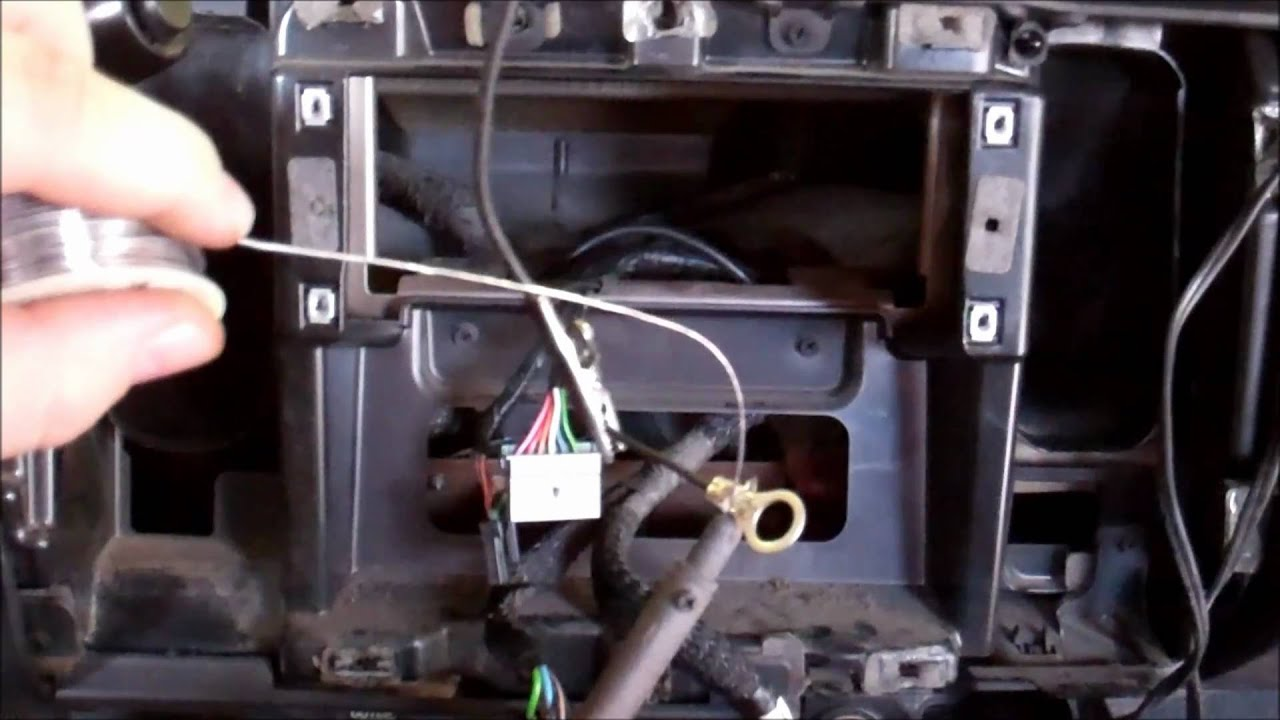 stereo wiring diagram 2002 jeep grand cherokee 2001 dodge dakota soldering a ground wire youtube  2001 dodge dakota soldering a ground wire youtube